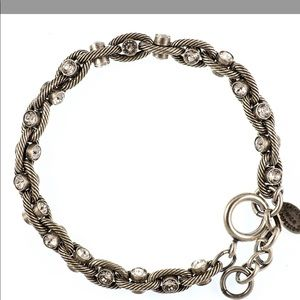 Catherine Popesco crystal and silver rope bracelet